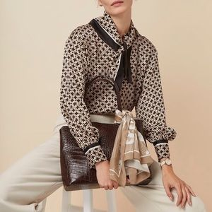 H&M studio blouse top with scarf
